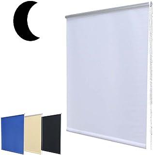 Cleanwizzard Noche Oscuro Mini Opaco Enrollable sin Necesidad de taladrar con Soporte de sujeción Blanco 100x 160(W x H)