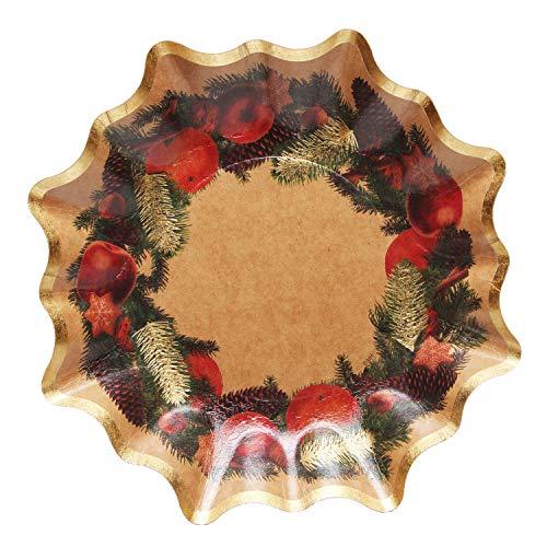 Xmas-and-more GmbH Weihnachtsteller in Sternform, Motiv Adventskranz, Durchmesser ca. 27 cm, als Dekoration und Teller für Süßigkeiten, Obst und Nüsse, Gold