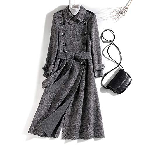 FSDFASS Herbst Winter Mantel, Damen Streetwear Jacke, koreanische Kleidung, Mäntel und Jacken für Frauen XL grau