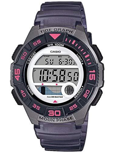 CASIO Damen Digital Quarz Uhr mit Resin Armband LWS-1100H-8AVEF