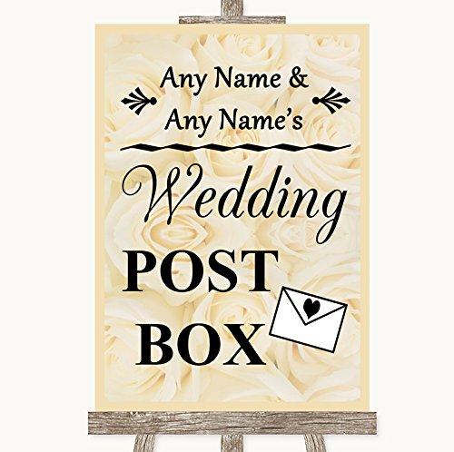 Crème rozen bruiloft teken collectie crème rozen kaart post doos bruiloft teken Framed Oak Medium Ivoor
