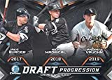 2019 Bowman Draft Draft Progression Trios #DPR-CWS Andrew Vaughn/Jake Burger/Nick Madrigal RC Rookie Chicago White Sox MLB Baseball Trading Card. rookie card picture