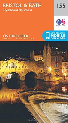 OS Explorer Map (155) Bristol and Bath