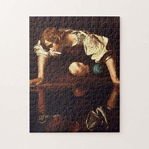 Caravaggio - Narcissus 1598 Puzzles for Adults, 1000 Piece Kids Jigsaw Puzzles Game Toys Gift for Children Boys and Girls, 20