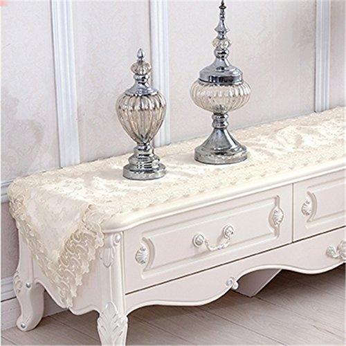 Nappe de dentelle Beige européenne Tablerunner multifonction Rectangle décoration couverture tissu , 40*180cm