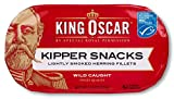 King Oscar Kipper Snacks, Smoked Herring Fillets, 3.54 Oz (Pack Of 12)