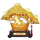 YUESFZ Estatuas Departamento De Lingotes De Oro Chapado Figurita Regalo Estancia Hotel Tienda De Decoración Estatua Ventas Creativo Decoración De La Resina Escultura (Color : Gold, Size : M)