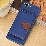 PROTECTIVECOVER + Étui en cuir magnétique de style feuille for IPhone 8 plus et 7 plus, avec...