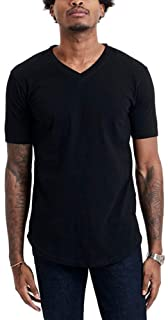 GOODLIFE Men's Slub Scallop V-Neck Shirt | Durable Tailored Fit V Made in The USA