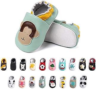 Primeros Pasos Bebe Niña Niños Zapatos Zapatillas de Estar por Casa Pantuflas Calzado Botitas y Patucos Infantiles Piel Sintético Casual Antideslizante-2 HZ 18-24 Meses