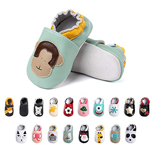 Primeros Pasos Bebe Niña Niños Zapatos Zapatillas de Estar por Casa Pantuflas Calzado Botitas y Patucos Infantiles Piel Sintético Casual Antideslizante-2 HZ 0-6 Meses