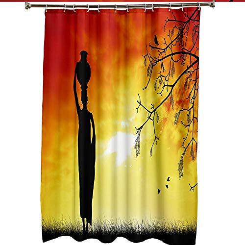 MALECUPWH Cortinas De Baño Textil con Anillas Cortina Ducha El Hombre De La Olla De Barro En La Cabeza Es Interesante. Cortina De Duchas Poliéster Antimoho Impermeable 180X200 Cm