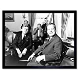 Wee Blue Coo B&W History JFK Kennedy Mayor Willy Brandt