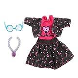 Sharplace 5 Stücke Puppe Kleid Anzug Kunststoff Halskette Gläser Für / Monster High Puppe