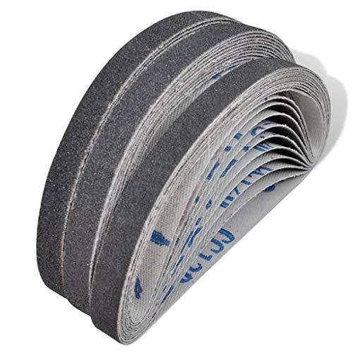 vidaXL 30x Schleifband für Bandschleifer 10x330mm Schleifbänder Gewebebänder