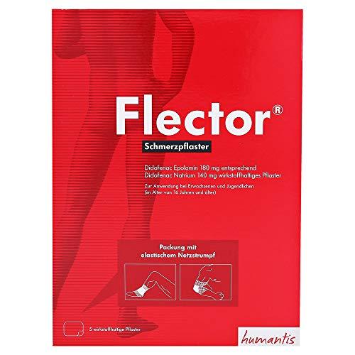FLECTOR Schmerzpflaster+elatischer Netzstrumpf 5 St
