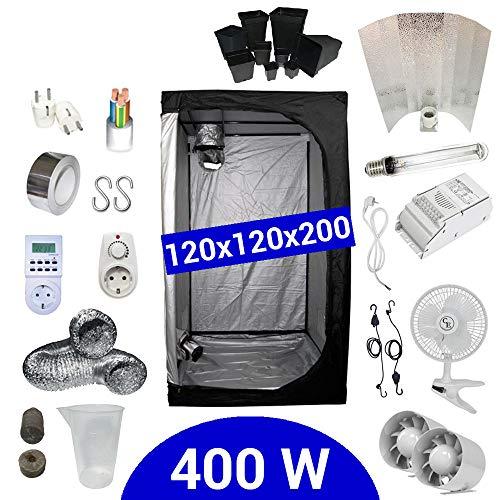 Kit de cultivo interior 400W SHP Stuko - Armario 120x120x200 - Balastr
