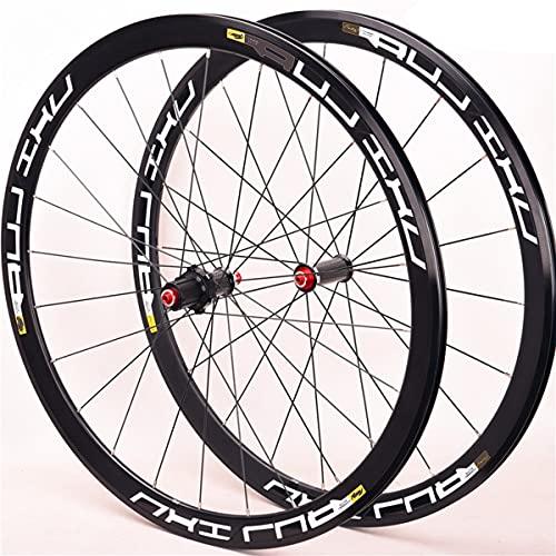 VDSOIUTYHFV Rueda de Bicicleta 700c Juego de Ruedas de Bicicleta de Carretera Llanta de aleación de Doble Pared 40 mm Freno de rodamiento Sellado