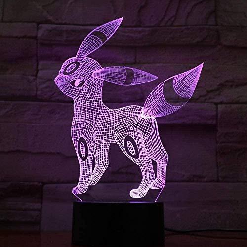 Lámpara de ilusión 3D Led Night Light Ejercicio Raqueta de tenis Cambio de color con control remoto Presente único para niños para decoración de interiores-Control remoto