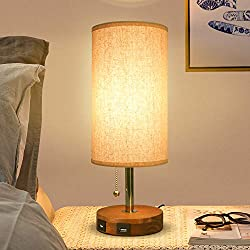 ❤Charge 2 Devices at Once--With 5V/2A USB fast charging port, you can charge your phones, tablets, ipad, laptops at the same time! Save your time for charging the devices! ❤FAST CHARGING--The USB charging port desk lamp comes with sleek fabric shade ...