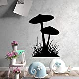 Arte de la seta hierba vinilo pegatinas de pared decoración del hogar habitación de los niños impermeable arte de la pared masilla S 43x58cm-S_43x58cm