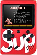 Sup Game Box 400 in 1 Games Retro Portable Mini Handheld Game Console 3.0 Inch Kids Game Player (Red)