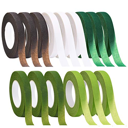 Livder 15 Rolls 1/2 Inches Width Floral Tape Flower Stem Adhesives Tapes