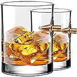 Kollea Vasos de Whisky, Juego de Vasos de Whisky Bullet de 2 .308 Vasos de Bala, Juego de Whisky Tumblers Antiguo, Idea de Regalo de Whisky para Hombres para Whisky, Escocés, Bourbon, 300 ML
