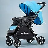 Cochecito de bebé plegable ligero, carro, plegable, impermeable, asiento multi-posición, suspensión de cuatro ruedas, cochecito de bebé de 6 meses,C