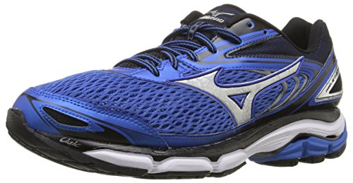 Mizuno Men's Wave Inspire 13 Running Shoe, Strong Blue/Silver, 10.5 D US