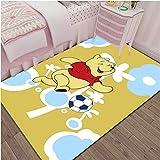 Xuejing Carpet Child Rug Rectangular Living Room Bedroom Bedside Cartoon Anime Winnie The Pooh Study Cloakroom Home Decoration Floor Anti Skid