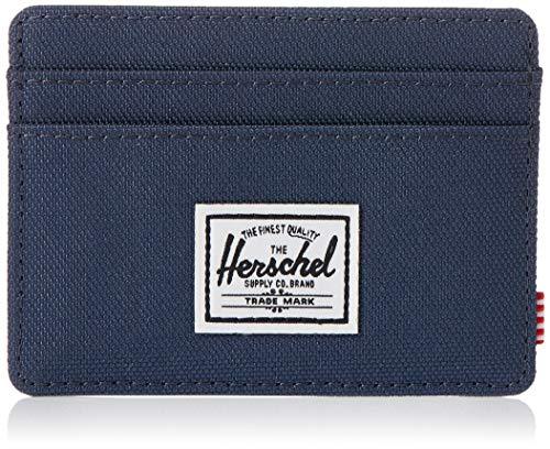 Herschel mens Charlie Rfid Card Case Wallet, Navy, One Size US