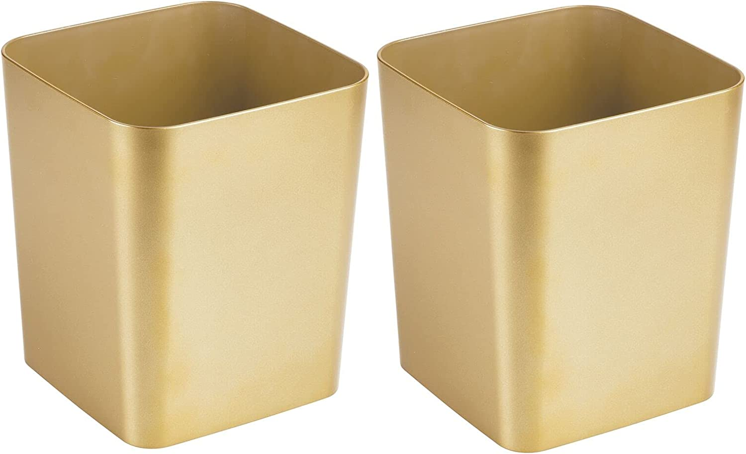 mDesign Square Cash special price Shatter-Resistant Plastic Trash Small Can Wasteba Cheap