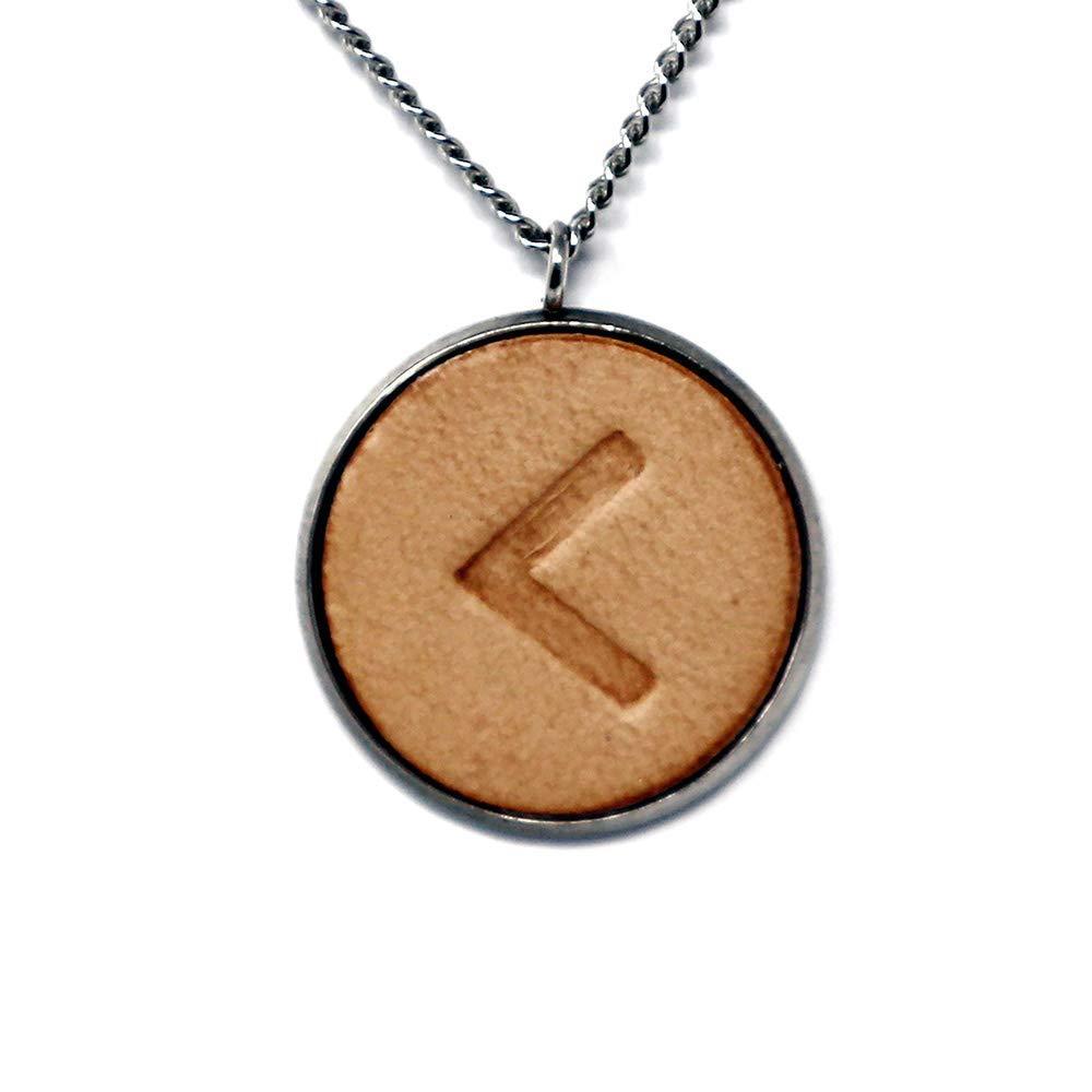 Max 87% OFF Viking Runes Elder Futhark C K Luxury goods Hand N Pendant Kenaz Fire Stamped