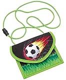 Wedo 2413001 Brustbeutel Fußball aus Polyester, Sicherheitskordel, Münzfach...