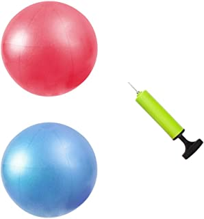 MU-MOON Mini Fitness Exercise Ball Kit with Hand Pump for Yoga, Pilates, Body Balance, Core Training and Stability, 8