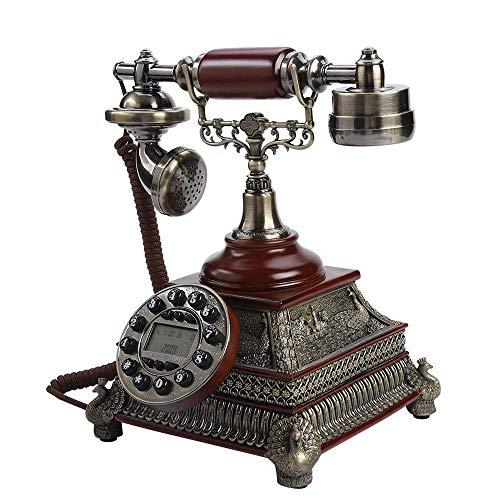 YANGYUAN Teléfono fijo, teléfono retro para decoración del hogar, teléfono para decoración del hogar