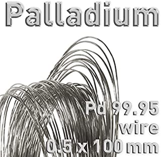 Palladium Wire, Dia 0.5mm x L. 100mm, Electrode for Electrolysis, Polymet Galvanotech