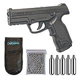 Outletdel ocio Pack Pistola Perdigón ASG16088. Steyr M9-A1. 3,3 Julios. Co2. Calibre 4,5mm BBS. + Funda Portabombonas + Balines + Bombonas co2