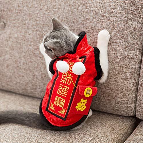 DishyKooker Warmes Party-Kostüm Winter Fleece-Kleidung mit rotem Umschlag für Neujahr, rot, M