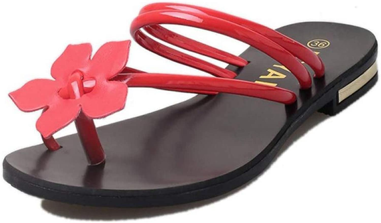 MEIZOKEN Women Bohemia Sandals Lady Flower Weave Sandals Beach Peep-Toe Flip Flops shoes Slippers Beach