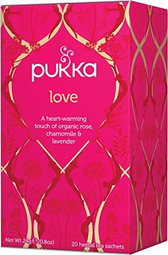 Pukka Organic Love 20 Teabags (Pack of 4, Total 80 Teabags)