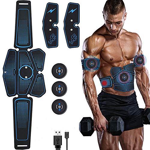 YLCS Estimulador De Músculos Abdominales Recargable EMS, Electroestimulador De Músculos, Masajeador De Entrenamiento De Adelgazamiento De Peso para Pérdida De Peso