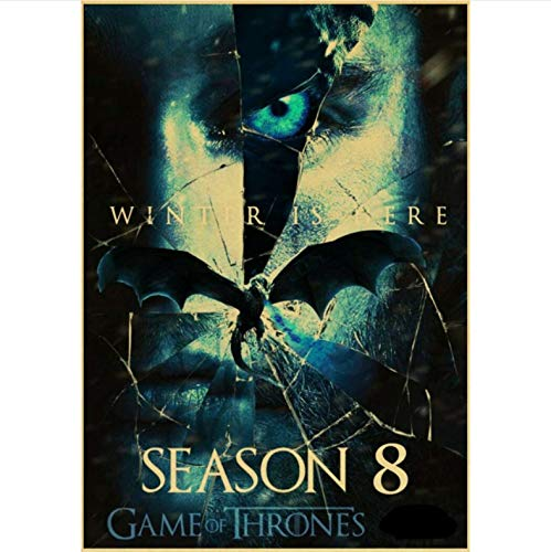 manyaxiaopu Game of Thrones Season 8 Poster TV Play Poster and Prints Wall Art Painting For Home Room Decor Wall Sticker Pintura Sin Marco B18 50X60Cm