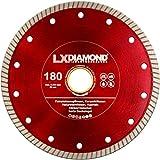 LXDIAMOND Disco de corte de diamante de 180 mm x 25,4 mm, para azulejos, gres porcelánico, azulejos de suelo, baldosas de cerámica, piedras naturales, correa extrafina para cortes exactos de 180 mm