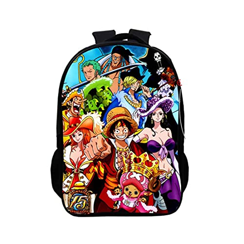 Leegt One Piece,Usb Zaino Per La Scuola E La Scuola Per Ragazza Casual Cartella Motivo Anime Giapponese