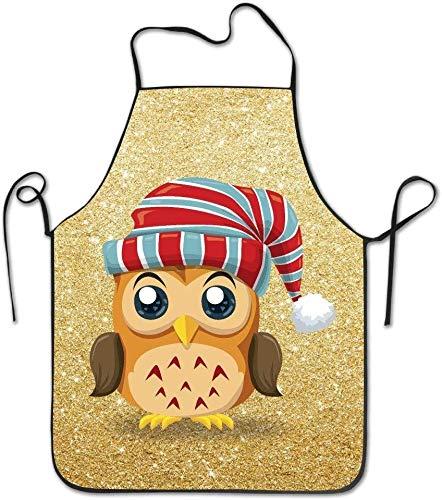 DUTRIX Delantal de Cocina Owl Turban BBQ Kitchen
