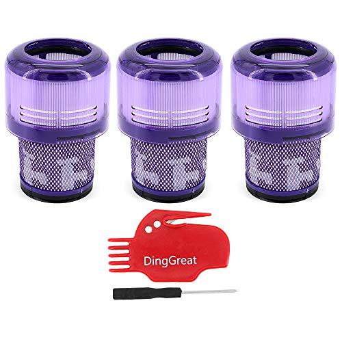 DingGreat 3Pcs Accesorio de Filtro Lavable para Aspiradora Dyson V11 SV14 Cyclone...