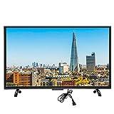 Televisor de pantalla curva de 43 pulgadas, 1920x1200 HD HDR Smart TV LED de pantalla grande con control de voz, VGA, USB, AV, HDMI, interfaz RF, Smart Television con cable inalámbrico (red)(EU)