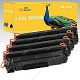 4x Toner Compatible con HP CB436A HP LaserJet P1505/P1505N Disa